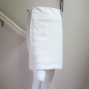 WHBM Ivory Instantly Slimming Pencil Skirt